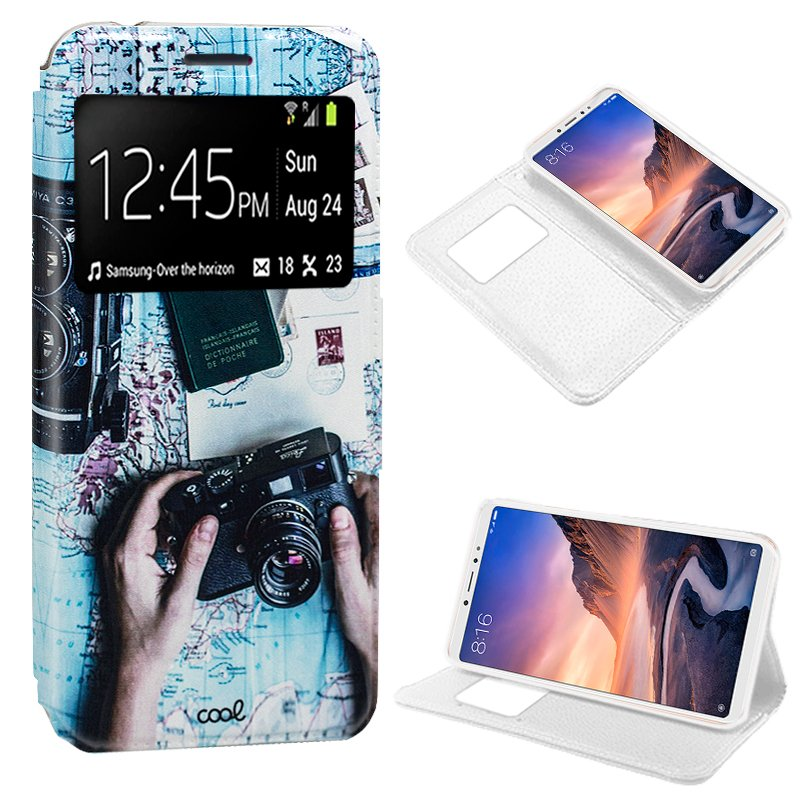 Tampa do caso Da Aleta Xiaomi Meu Max 3 Desenhos de Viagem
