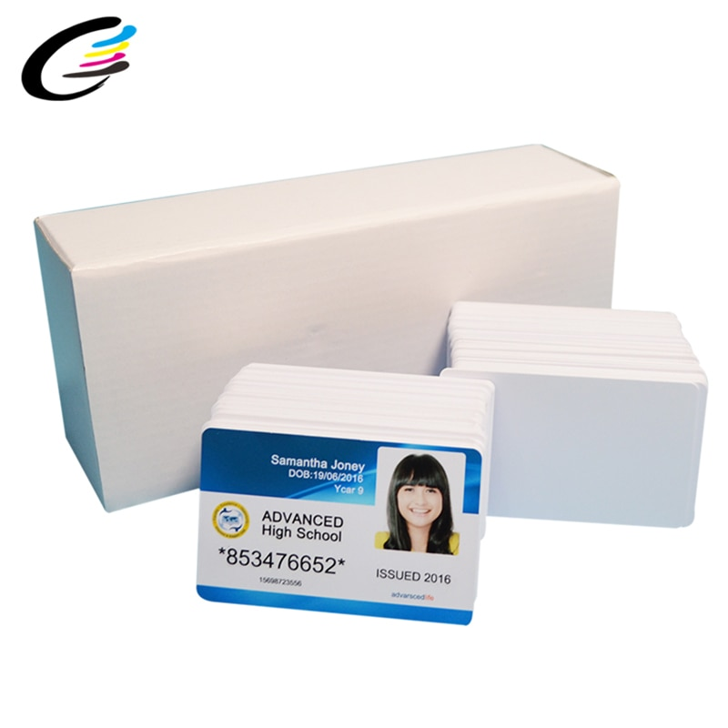 230 шт пустая пластиковая ПВХ ID карта для струйной печати визитная карточка без чипа для принтера Epson или Canon