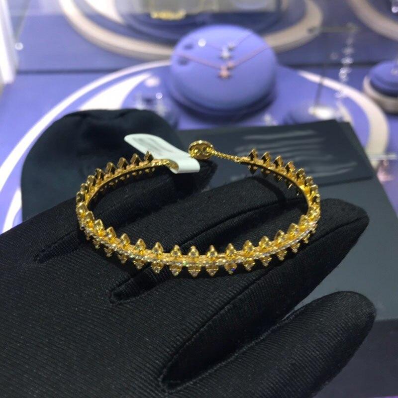 Kakany nova moda glamour marca de luxo ouro dot engrenagem pulseira pulseira zircônio óxido zircônia ms. belle era jóias