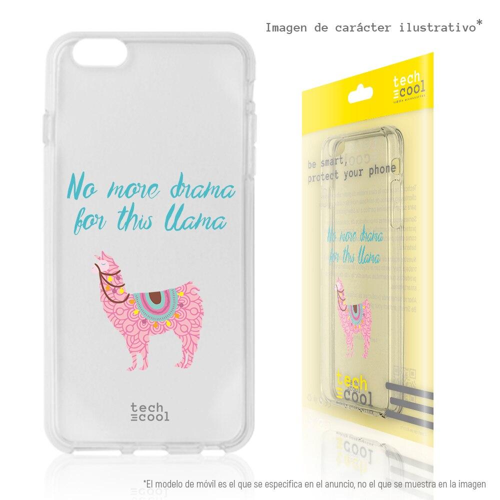 "FunnyTech® Funda Silicona para Xiaomi Redmi 4X l Diseño Llama ""No more drama"" Transparente rosa"