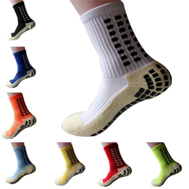 Новые спортивные Нескользящие футбольные носки Calcetines, мужские хлопковые футбольные носки