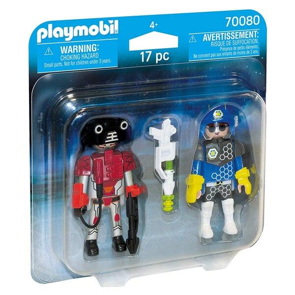 Muñecas ciudad acción espacio policía y ladrón Playmobil 70080 (17 uds)
