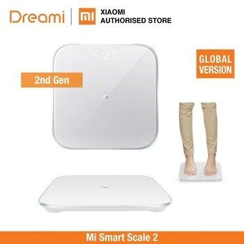 (OFFIZIELLE) Mi Smart Scale 2  Digitale Gewichtung Skala (Bluetooth 5 Unterstützung Android 4,3 iOS 9 Mifit APP)