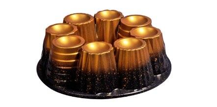 قالب كيك جرانيت حديد الزهر 26 سنتيمتر ، مافن ذهبي ، أواني كيك ، مقاومة للحرارة ، فرن صحي على شكل