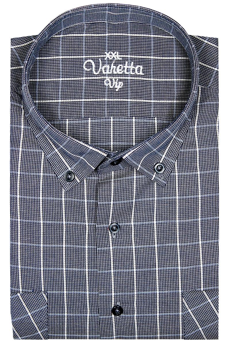 Men Shirt Long Sleeve Big Size Casual Cotton Shirts Oversized Plaid Double Pocket Shirt Male Fashion Stylish Turkey by Varetta