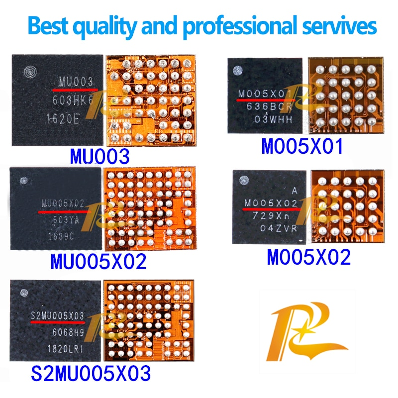 S2MU005X03 MU005X02 MU005X01 MU003 M005X02 M005X01 S2MPU06 Power IC For Samsung J5 J7 J530S J7109 J730F Power Management IC Chip