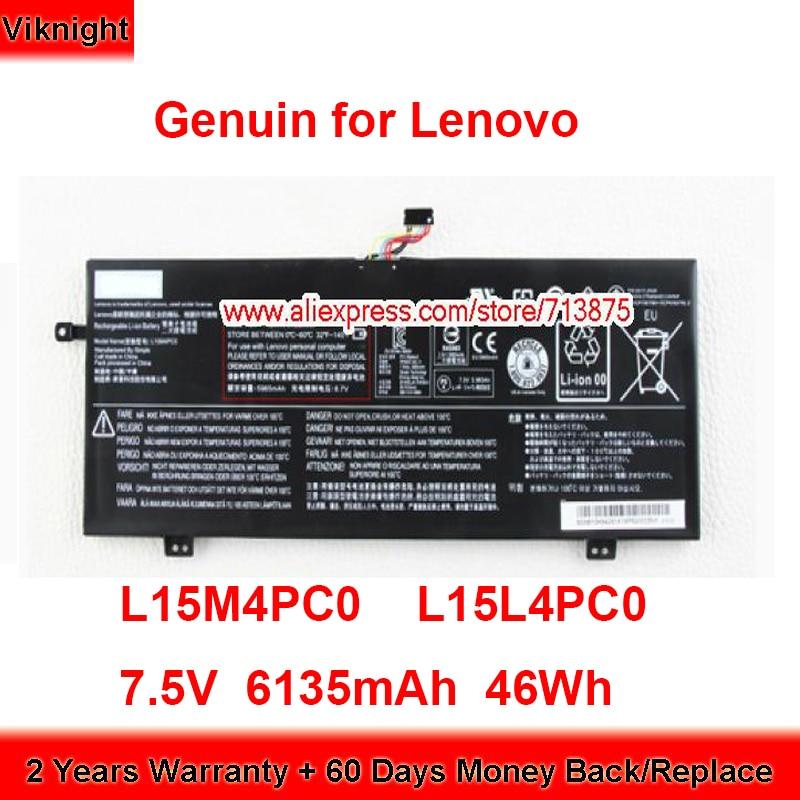 حقيقية L15M4PC0 بطارية L15L4PC0 لينوفو Ideapad 710S-13ISK 710S-13ISK-ITH Air13 برو Air13 برو 7.5V 6135mAh 46Wh