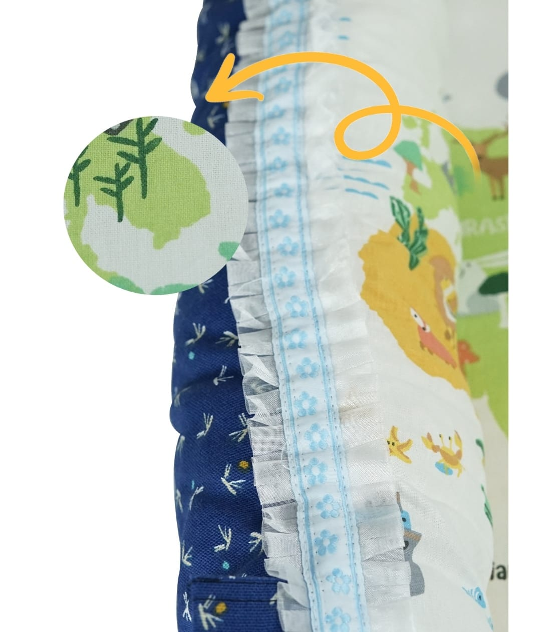 85*50 Cm Babynest Bed With Pillow Portable Crib Travel Bag Newborn Sleep Swaddle Cotton Fabric Has a Usage Range of 0-2 Years 8 enlarge