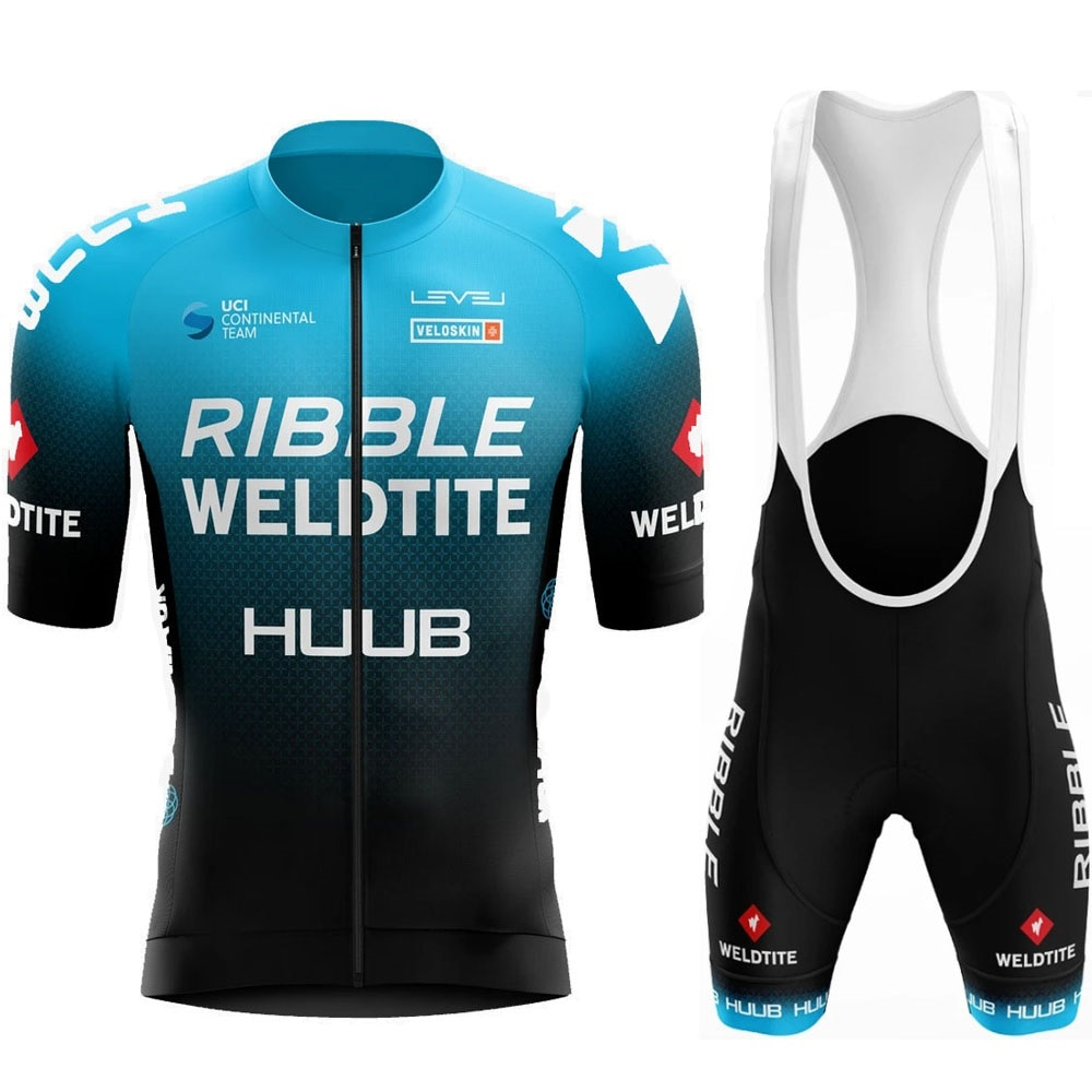 ¡2020! Conjunto de jersey de Ciclismo HUUB, Ropa de Ciclismo con Ribble Weldtite para hombre, pantalones cortos con babero para bicicleta, Ropa para Ciclismo Mtb, Maillot, Ropa para Ciclismo