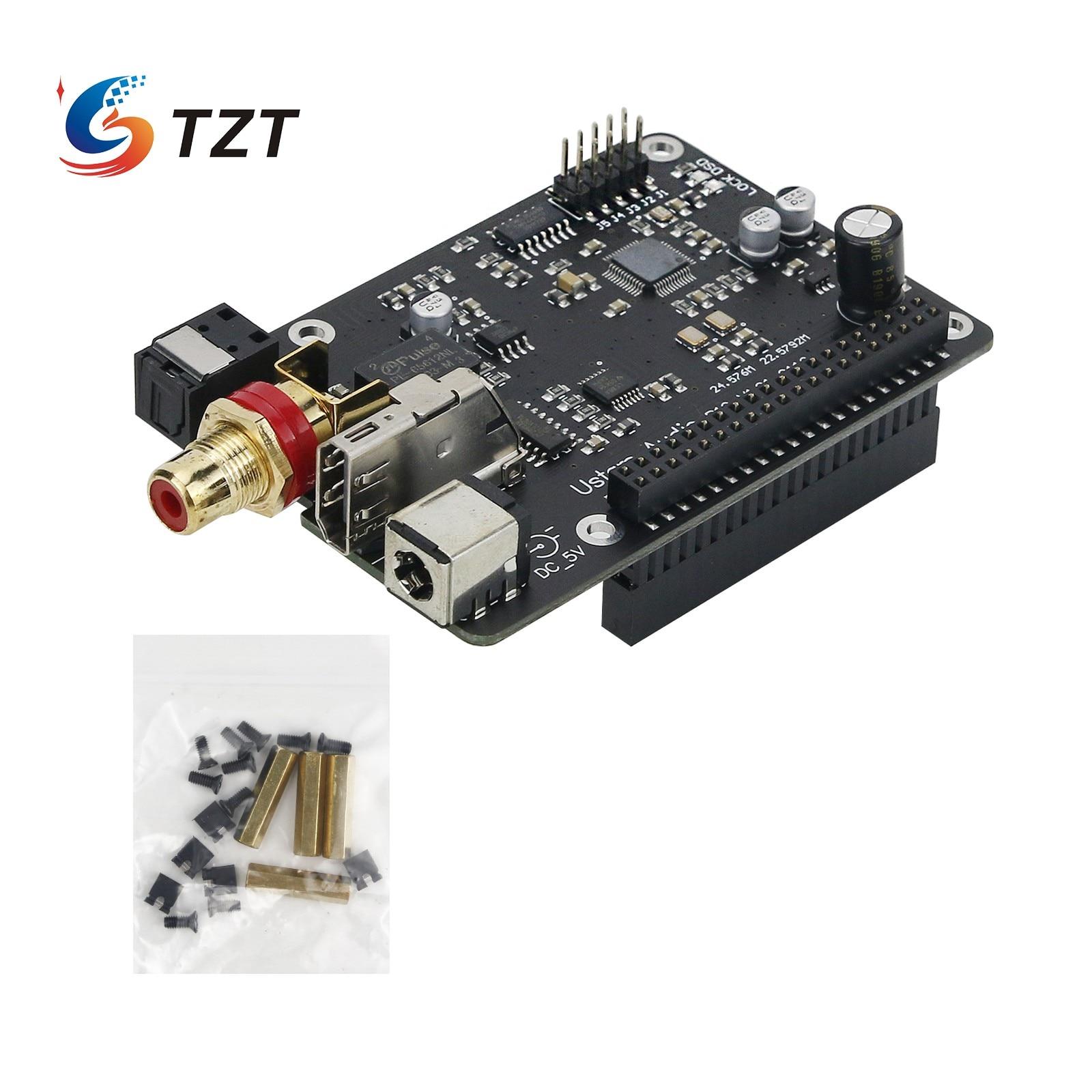 لوحة صوت رقمية TZT Ustars الصوت R19 32Bit PCM384KHz DSD512 دوبس متحد المحور لـ Raspberry Pi
