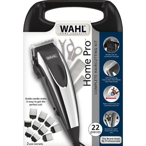 Cortadora de pelo WAHL 09243-2616 Home Pro-Cord, cortadora de pelo con cable, 22 piezas, CE, ancho de hoja 46mm, abs + acero inoxidable, enchufe europeo