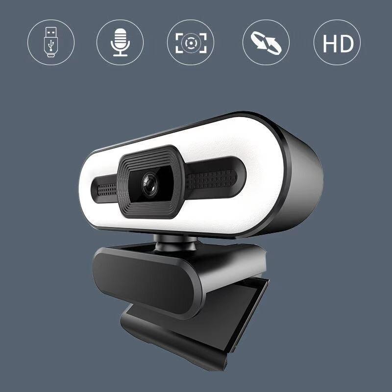 4K التركيز التلقائي كاميرا ويب HD كاميرا ويب مع ملء ضوء تدوير كمبيوتر محمول كاميرا ويب كاميرا جهاز كمبيوتر شخصي مع ميكروفون لفيديو يوتيوب