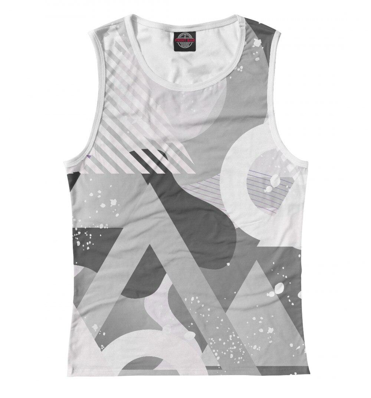 Camiseta para mujer, mezcla geométrica