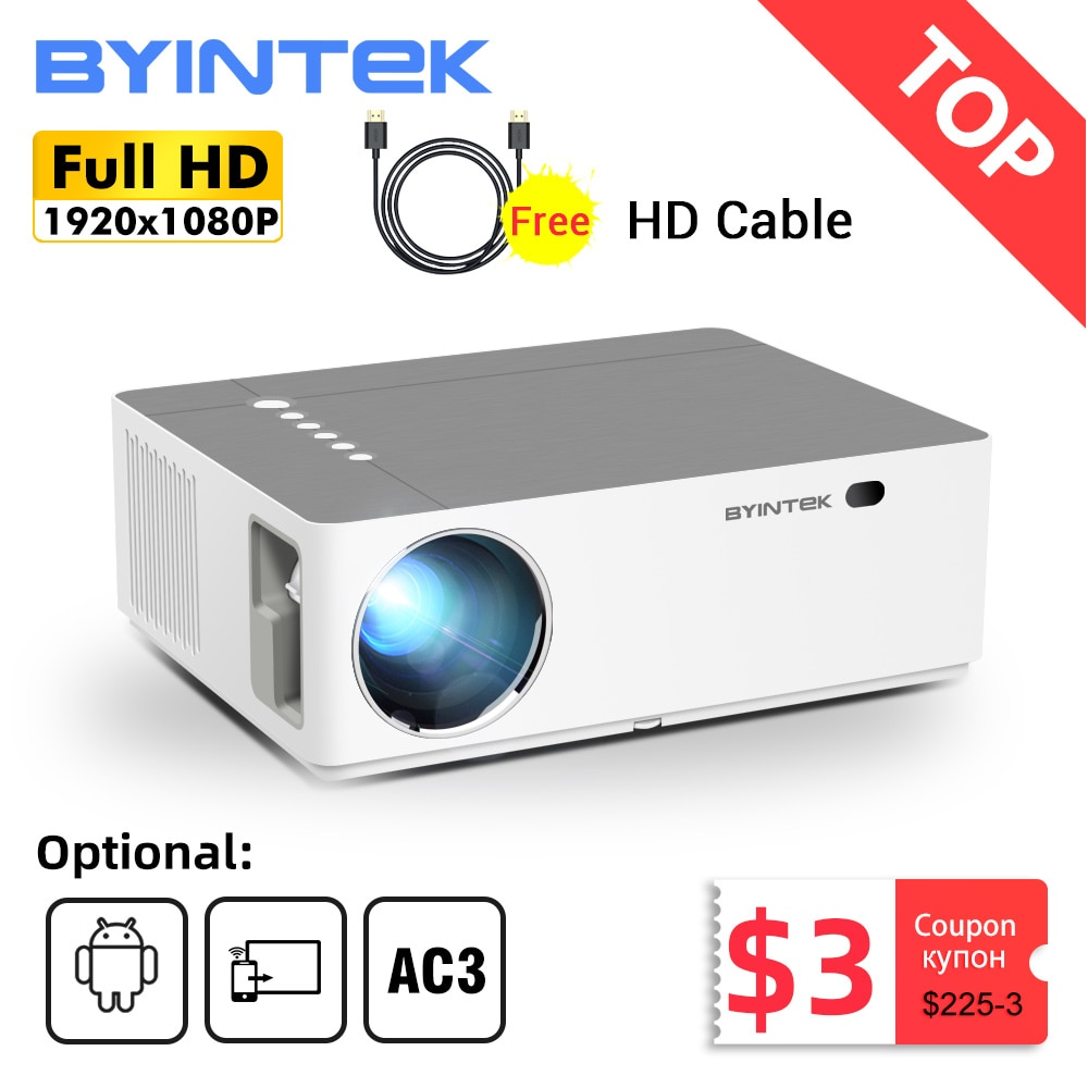 BYINTEK K20 Full HD 4K 3D 1920x1080p Android Wifi LED Video lAsEr Home Theater Projector Proyector B