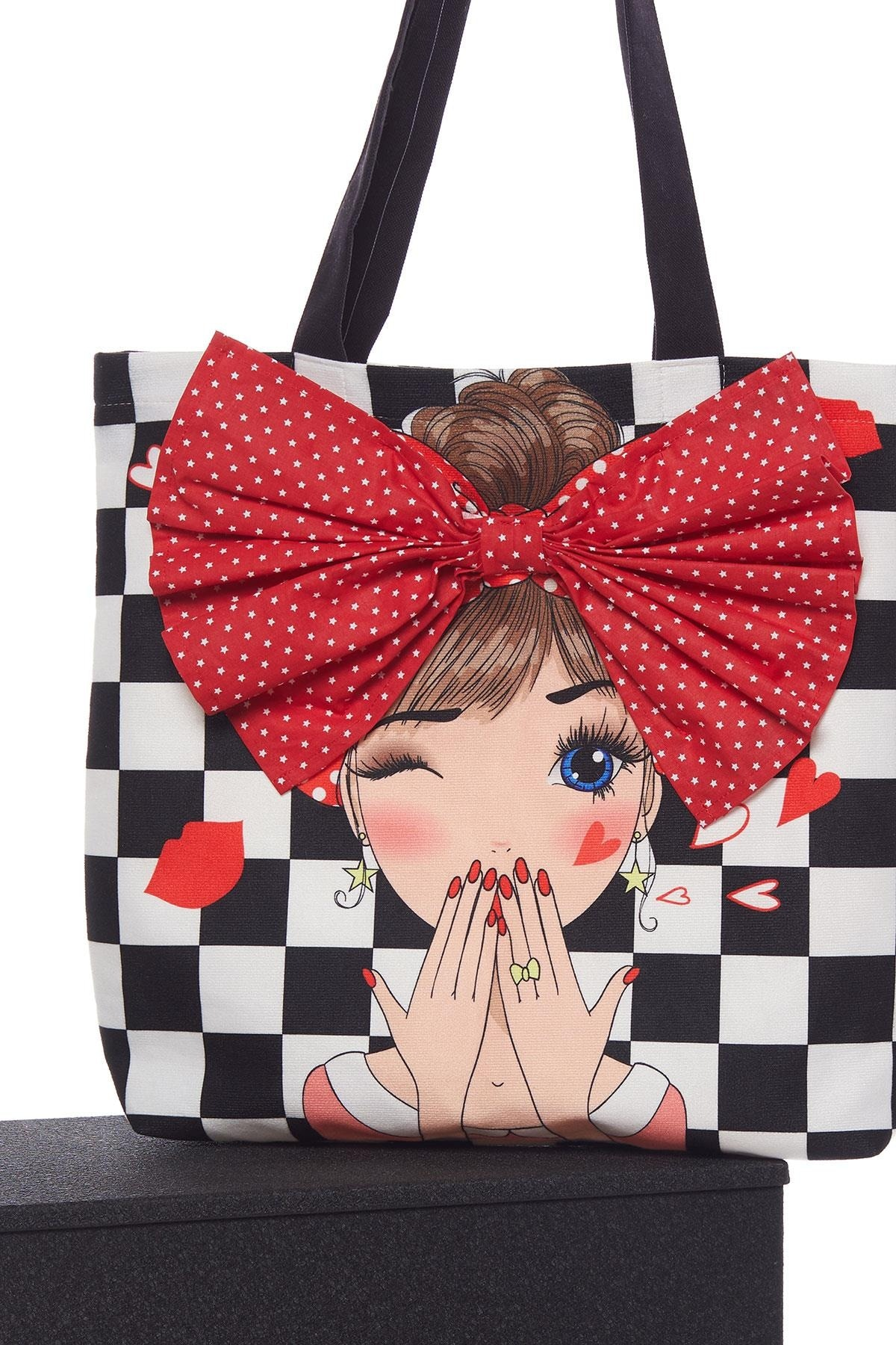 Checkers Pattern Cloth Beach Shopping Bag is beautiful in summer winter and the last season