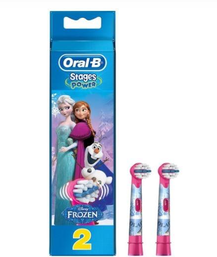 أورال بي فروزن كيدز 2 رأس استبدال فرشاة الأسنان