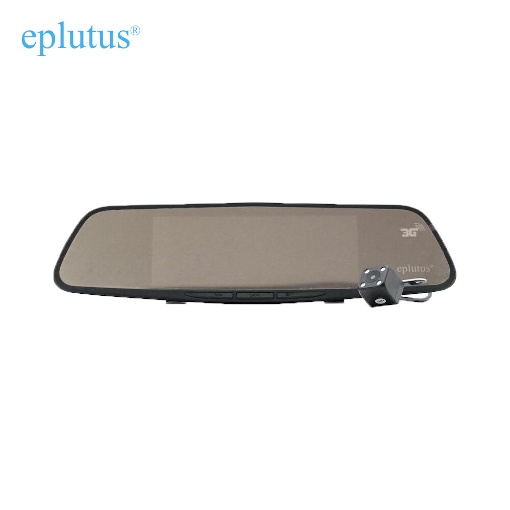 DVR coche Android Video grabador para coche 2 cámaras de registrador Video espejo Eplutus D30 7 pulgadas GPS WIFI Bluetooth
