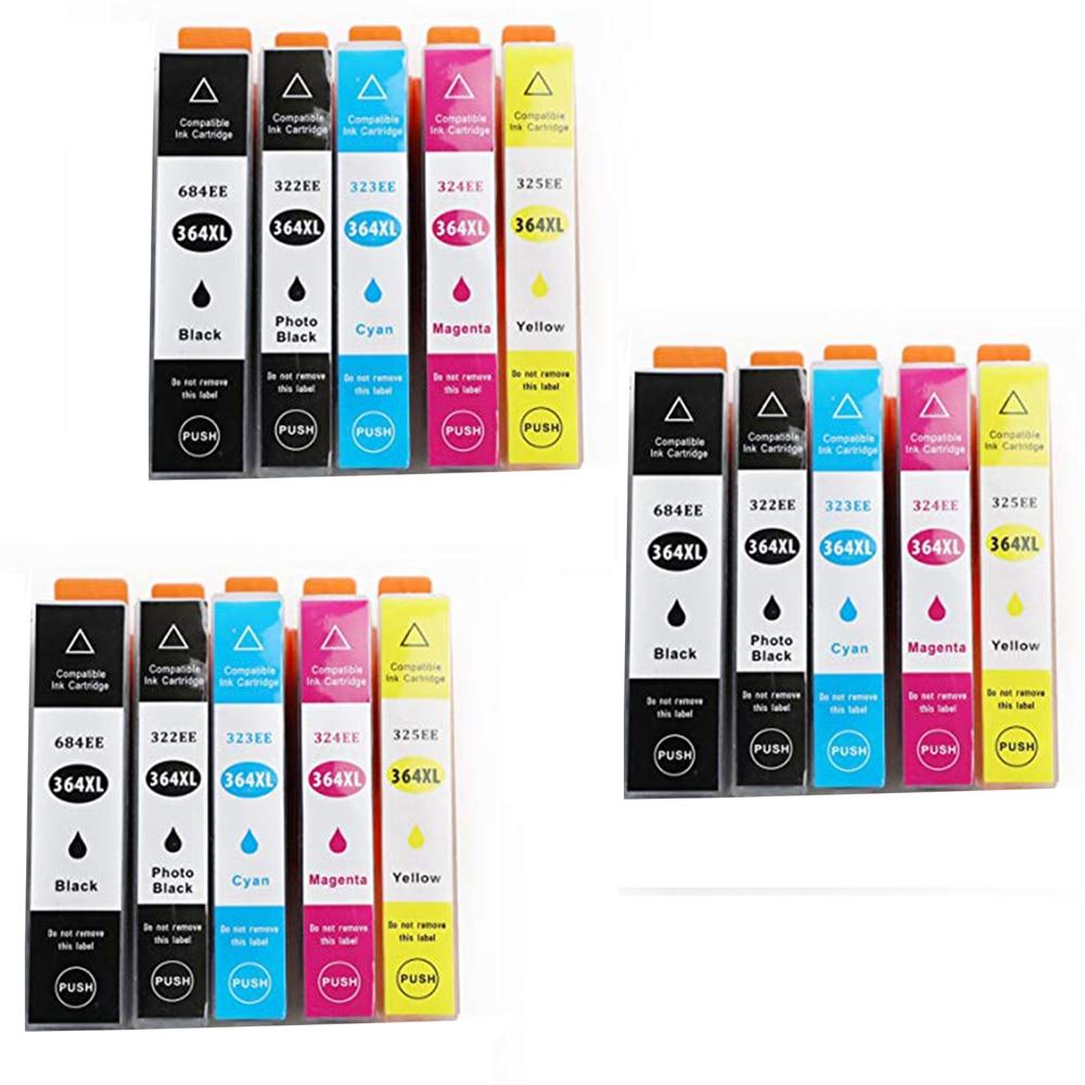 15 tinta hpges modelo hp364xl hp 364xl 364xl compatível com impressoras photosmart 7510 7520 c 309 c 309a