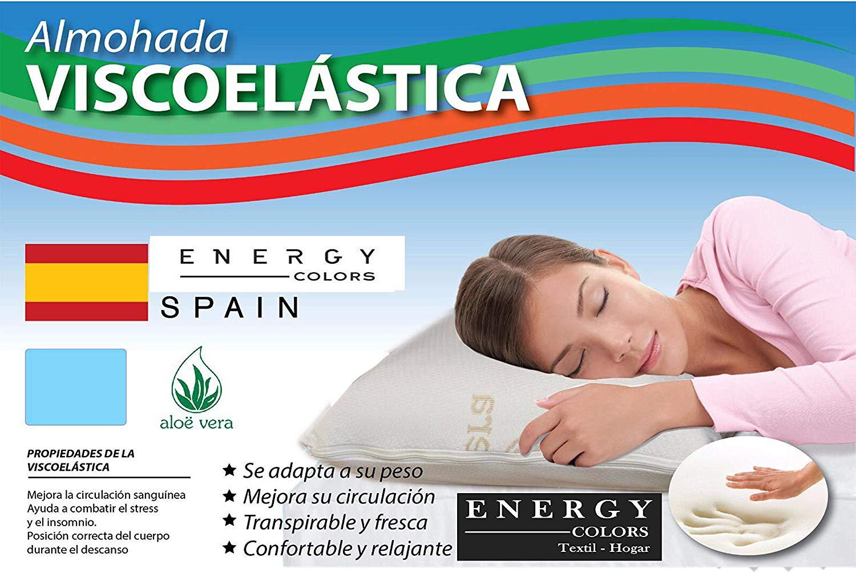 -Aloe Vera-Visco pillow-anatomical Anti-mite orthopedic elastic manufactured in Spain
