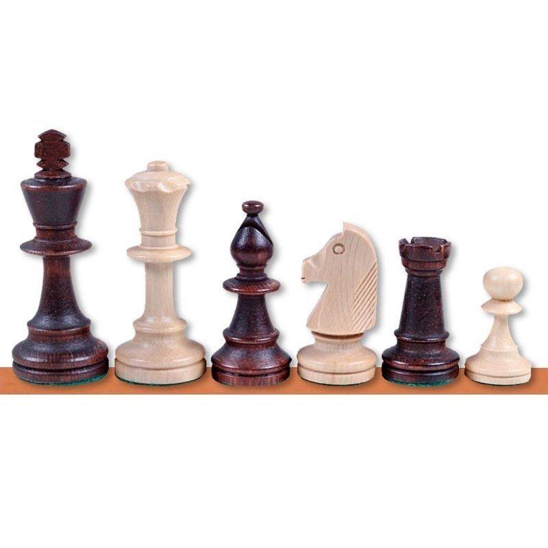 Szachy drewniane duży rozmiar 84mm. Bez wełny workowej. Model ekonomiczny szachy. Jadalni zestawy
