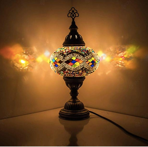Turkish Mosaic lamp swan neck Morocco Marrakech lamp glass Turkish lights Tiffany bedside table Turkish lamp table top lamp made