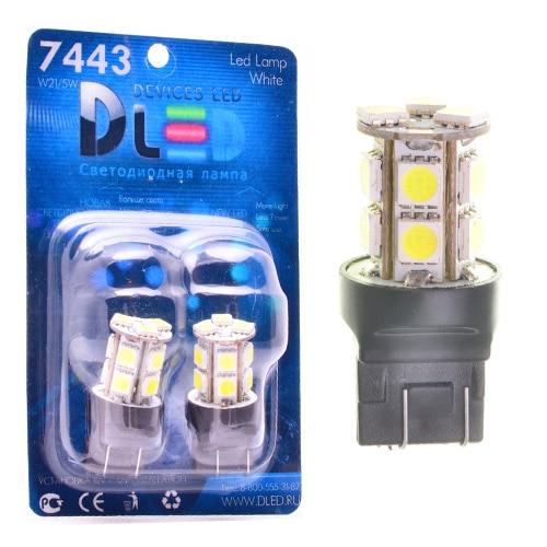 1 Uds. Lámpara LED para coche W21/5W - T20-7443-w3auth16q-13 SMD 5050