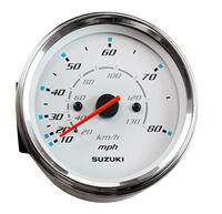 Speedometer Suzuki 4 130 km/h 80 mi white 3410093j11000