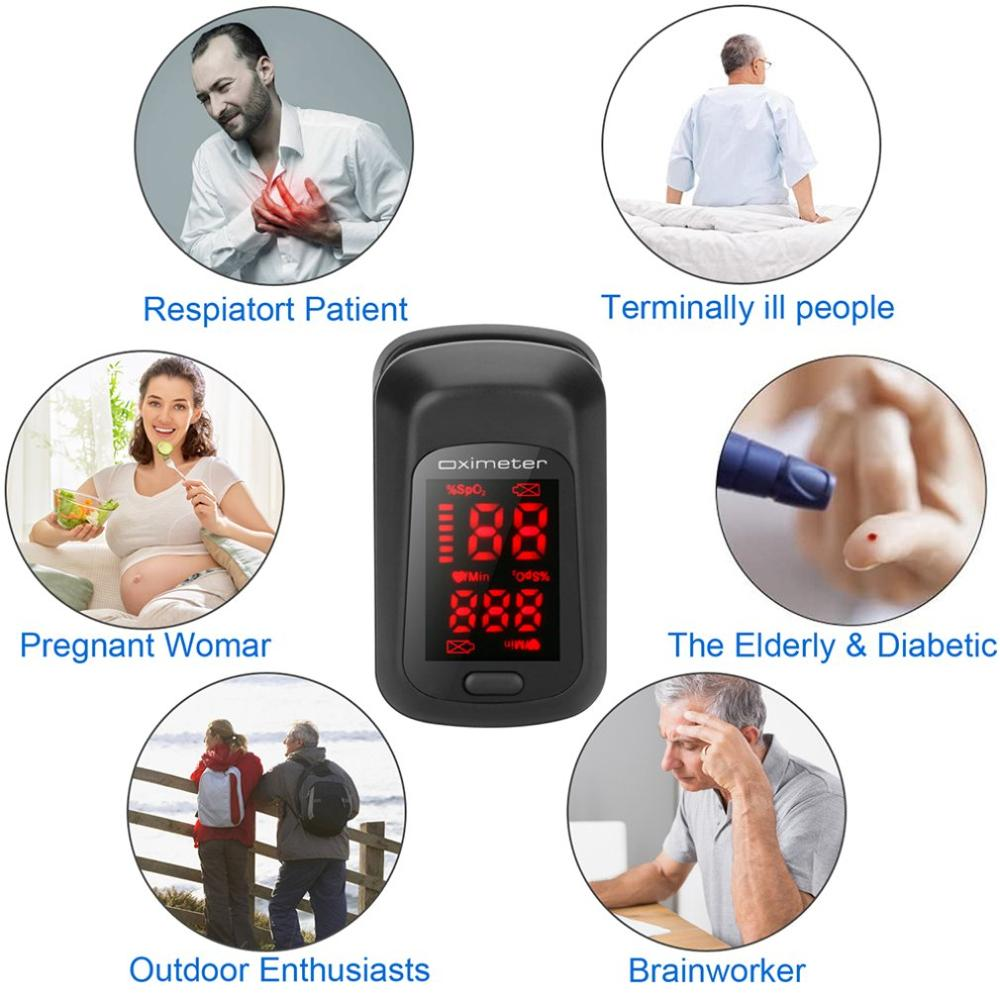 Finger Clip Pulse Oximeter Portable Fingertip Pulse Oximeter Digital Display Blood Oxygen Saturation Monitor