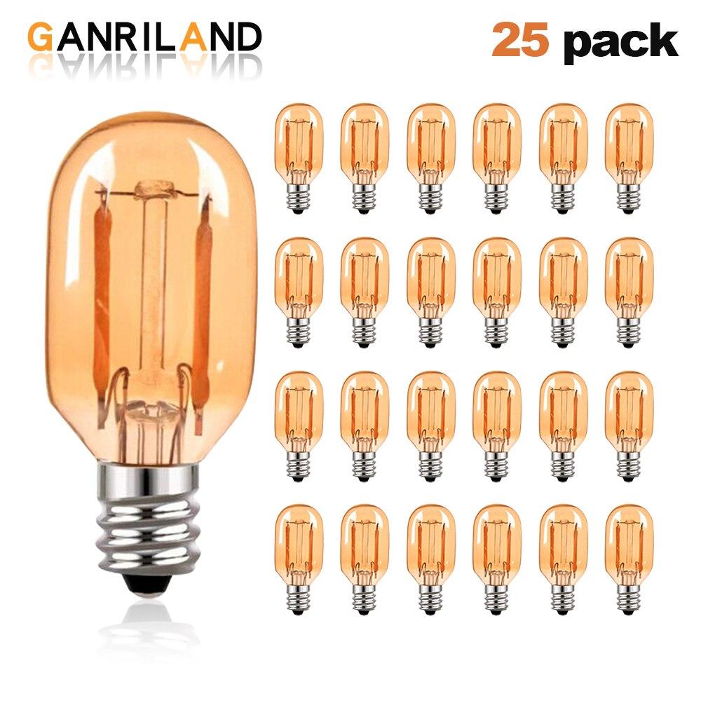 Приглушаемая Светодиодная лампа Эдисона GANRILAND T22 E14, 1 Вт, E12, 220 В, 110 В, винтажная трубчатая лампа для ночного освещения, 2200K, 10 Вт, эквивалентная...