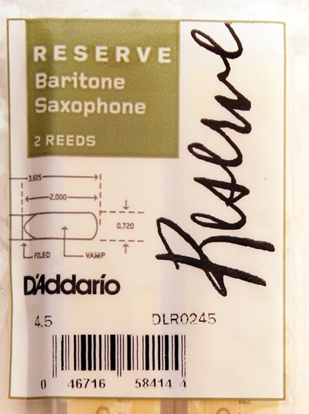 DLR0245 Reserve Трости для саксофона баритон, размер 4.5, 2шт, Rico