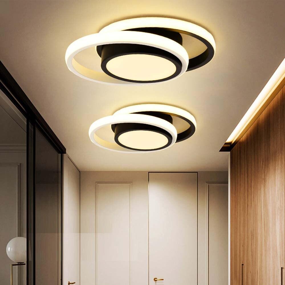 الممر الحديث LED أضواء السقف لغرفة المعيشة غرفة نوم المطبخ مصباح داخلي حلقة مستديرة تركيبات الإضاءة تعليق الإنارة