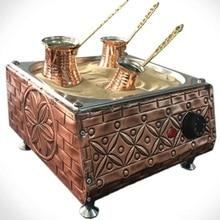 Copper Sand Turkish Arabic Coffee Maker Electric Coffee Brewer Machine + 3 Coffee Pots + 100g Turkish Coffee