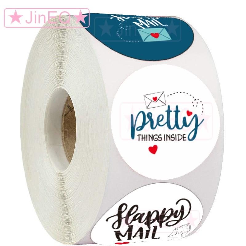 500pcs-bianco-felice-posta-adesivi-1-''di-tenuta-del-cerchio-etichette-per-biglietti-di-ringraziamento-di-affari-di-imballaggio-piuttosto-regalo-della-decorazione-busta