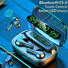 Smart Touch Bluetooth V5.0 Earphones Wireless Headphones With Microphone Sports Waterproof HIFI Ster