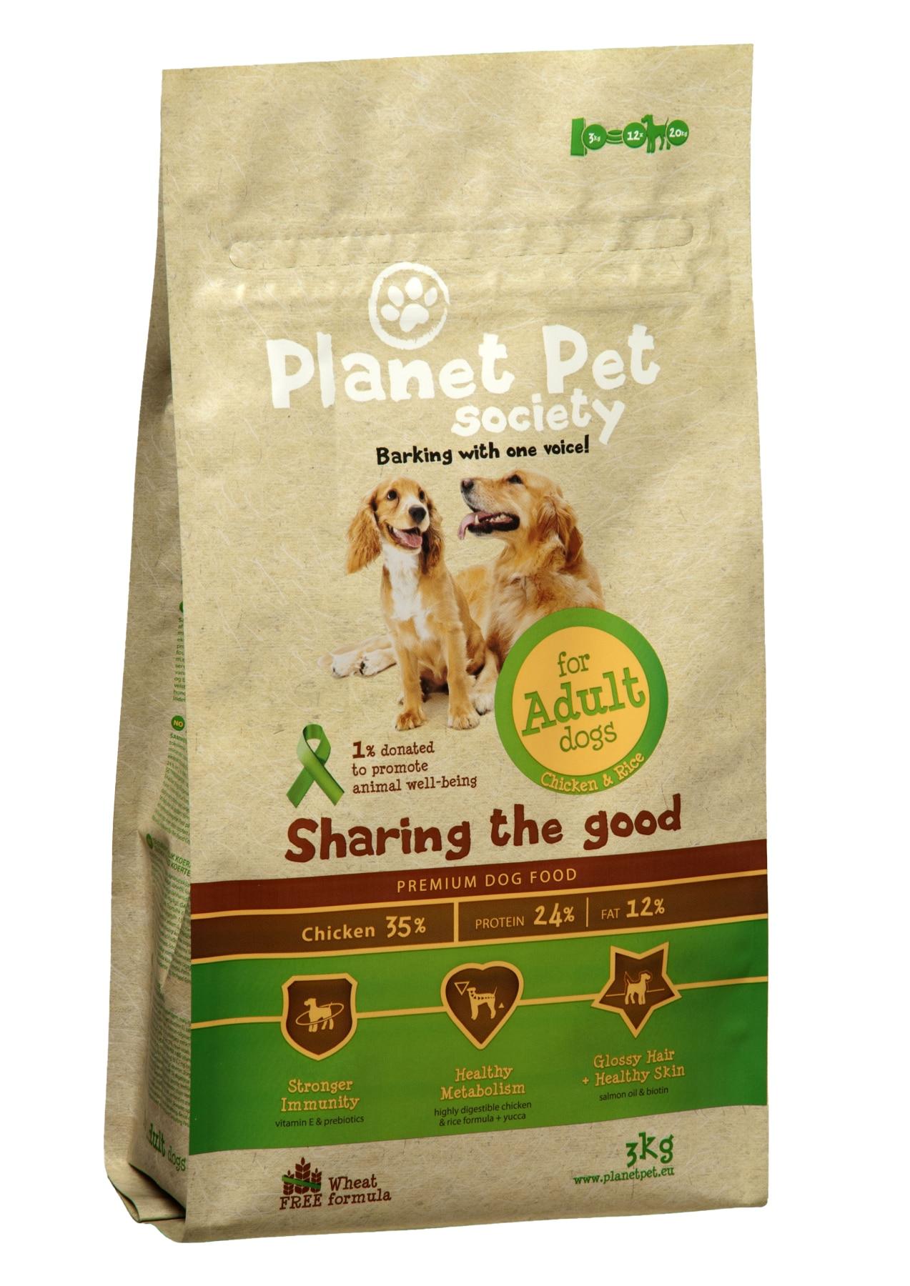 Planet Pet poulet et riz pour chiens adultes pour adultes/chiens poulet/riz-3 kg x PCs