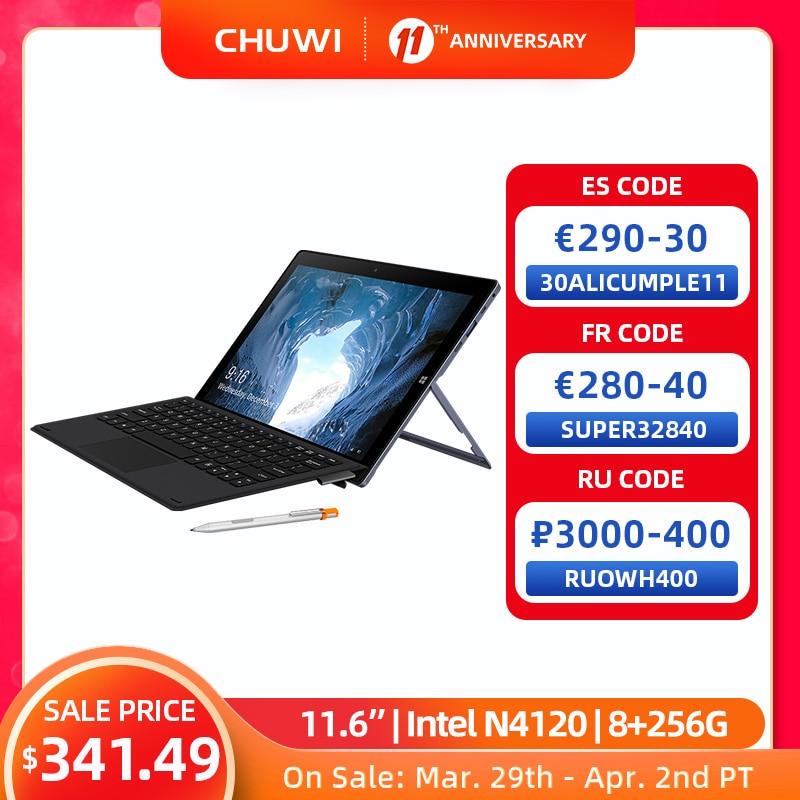 CHUWI UBook 11.6 Inch IPS Screen Tablet PC Intel Celeron N4120 Quad Core LPDDR4 8GB 256GB SSD Storage Windows 10 OS Tablet