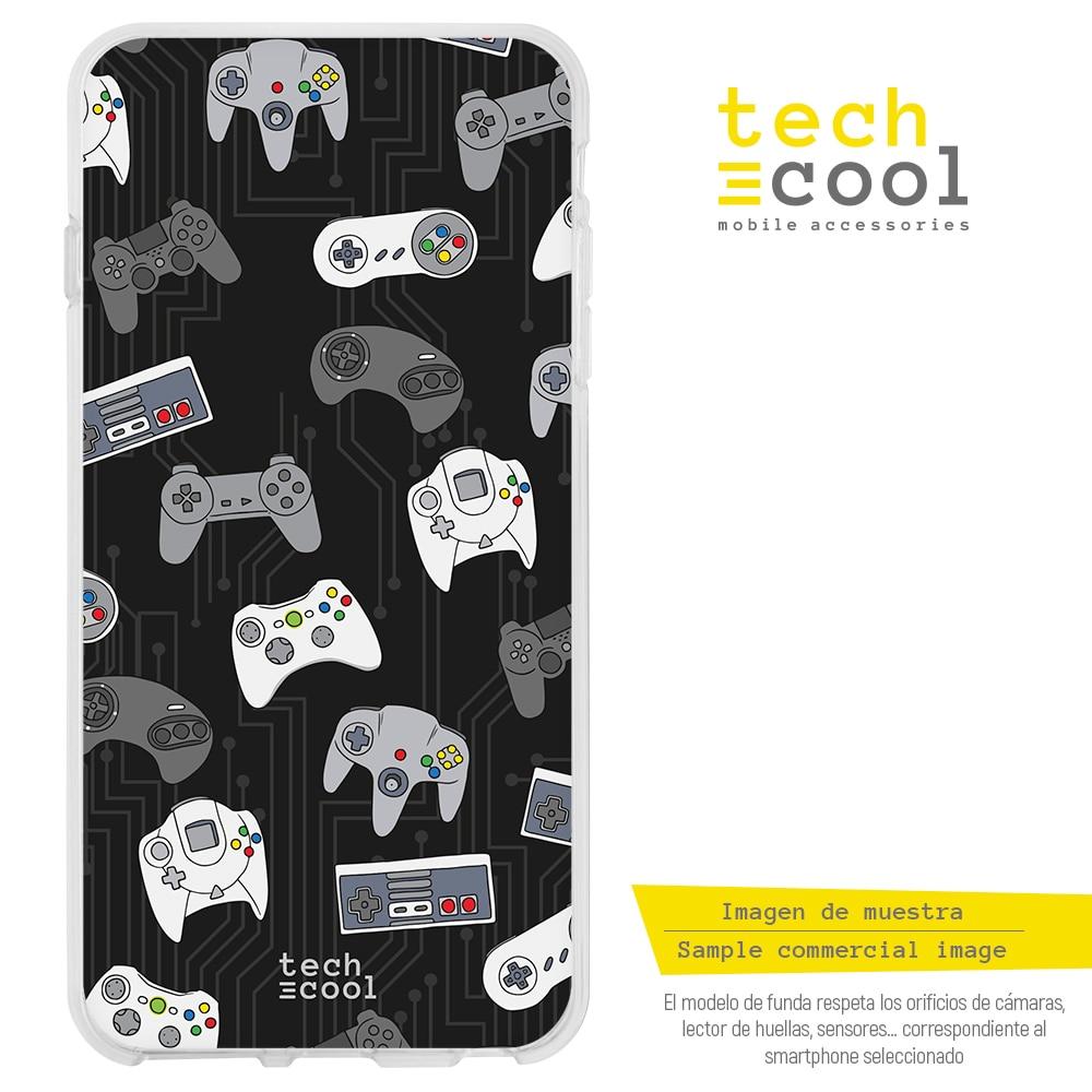 FunnyTech® Funda Silicona para Xiaomi Redmi Note 8T l Mando consolas retro Gamer fondo negro