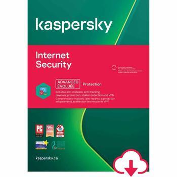 Kaspersky sécurité Internet 1 an 1 appareil 2021 clé globale