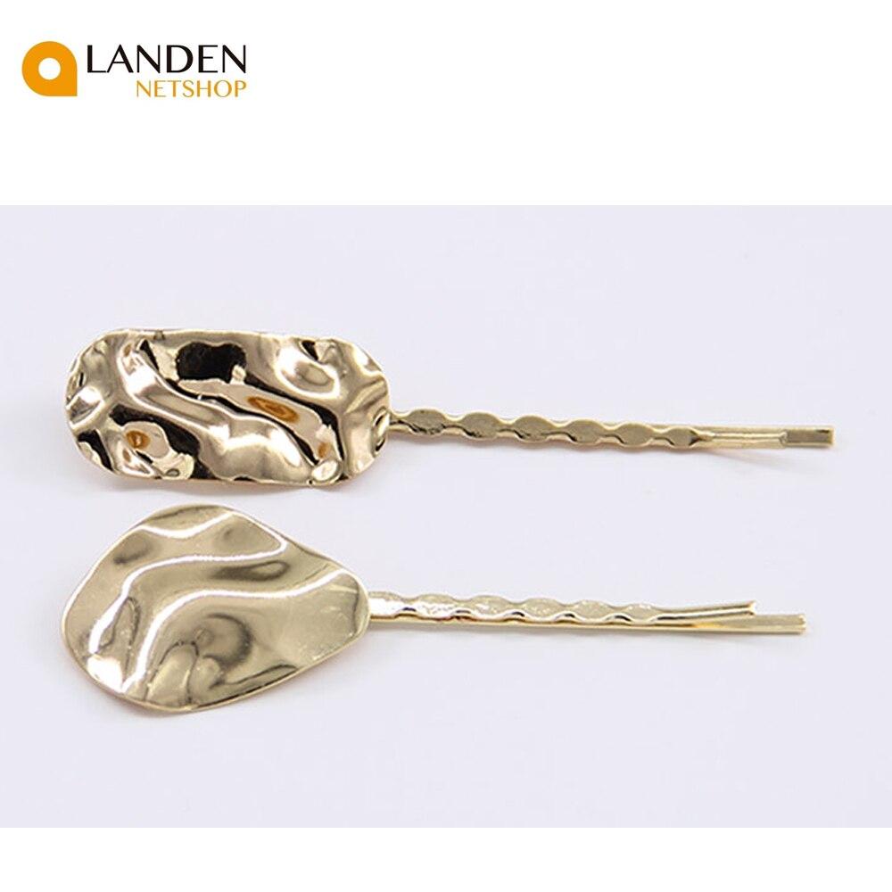 2 alligator clips voor haar accessoires metalen geometrische sieraden uit IMITATIE haar de cam gesp Hairas stars