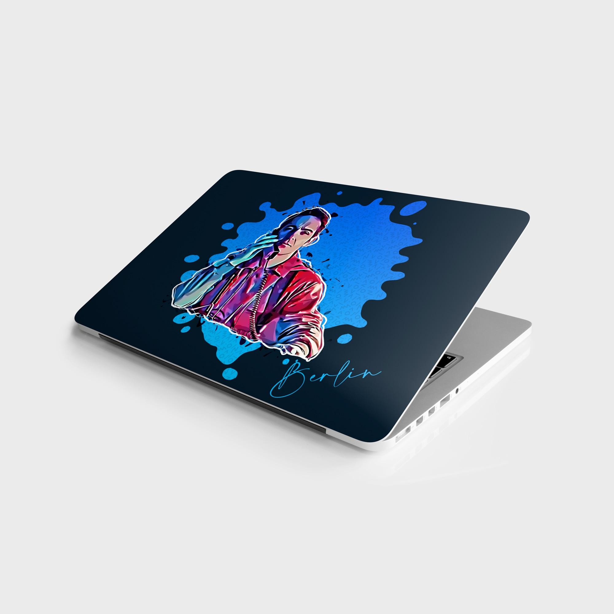 "Sticker Master La Casa De Papel Berlin Cartoon Universal Sticker Laptop Vinyl Sticker Skin Cover For 10 12 13 14 15.4 15.6 16 17 19 ""Inc Notebook decal for Macbook,asus,Acer,Hp,Lenovo,Huawei,Dell,Msi,Apple,Toshiba,Comp"