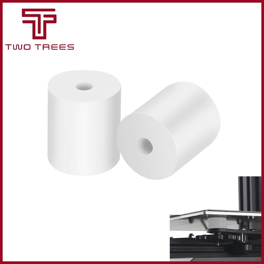 1/4 Uds. Almohadilla térmica de silicona para impresora 3D columna de nivelación de montaje en cama caliente resistente al calor para Prusa i3 Plus Anet A8 Wanhao D9 Mega