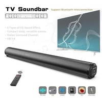 fm radio sound bar wireless bluetooth speaker metal cylinder with remote control multifunctional home theater echo wall speakers