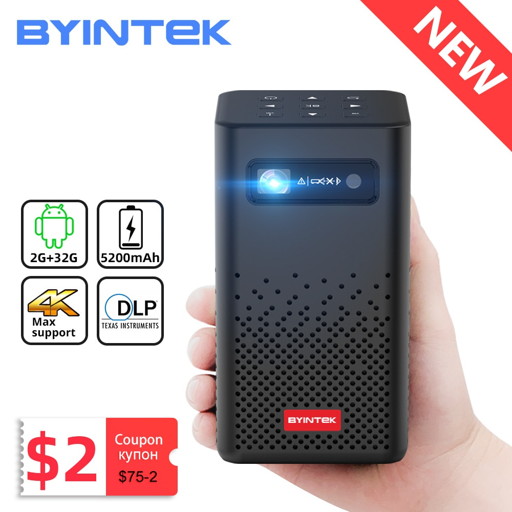 BYINTEK P20 Mini Portable Pico Smart Android Wifi 1080P Screenless TV lAsEr LED DLP Projector for Mo