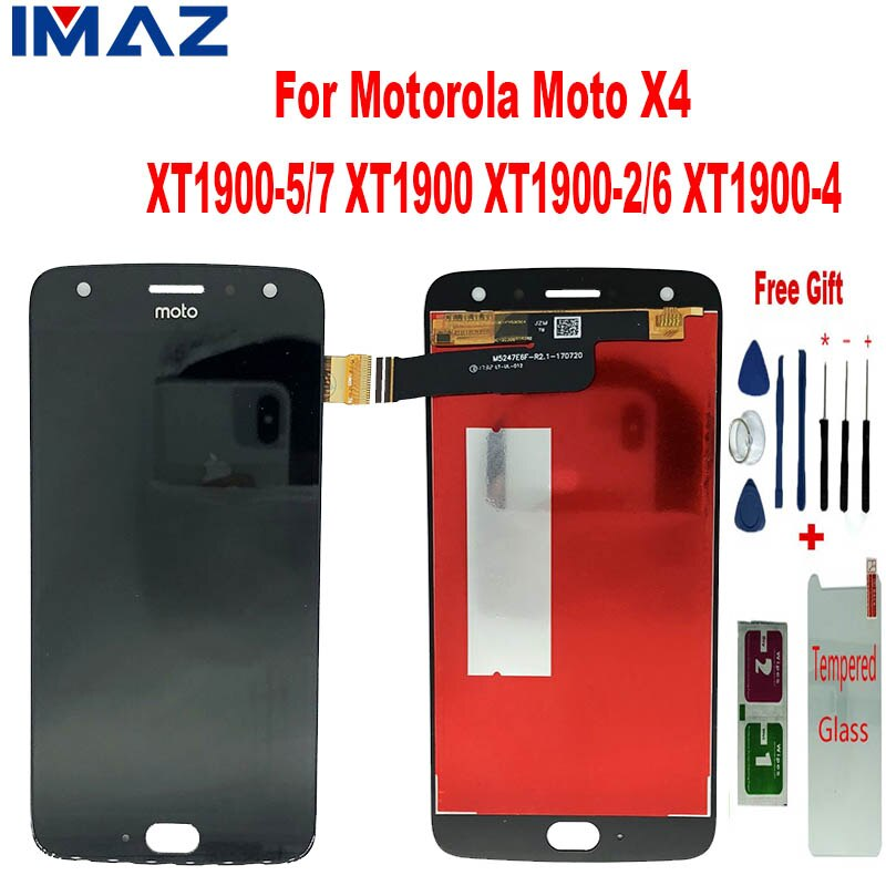 IMAZ Original LCD para Motorola MOTO X4 XT1900-6 XT1900-4 XT1900-5 XT1900 pantalla LCD de montaje de digitalizador con pantalla táctil para X4 LCD