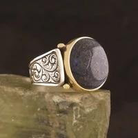 925 sterling penworking patterned lapis stone silver ring fashion turkish premium quality handmade jawelery