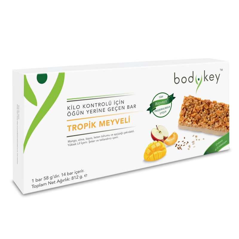 MEAL REPLACEMENT BAR TROPICAL FRUITS bodykey by NUTRIWAY™ 14 bars