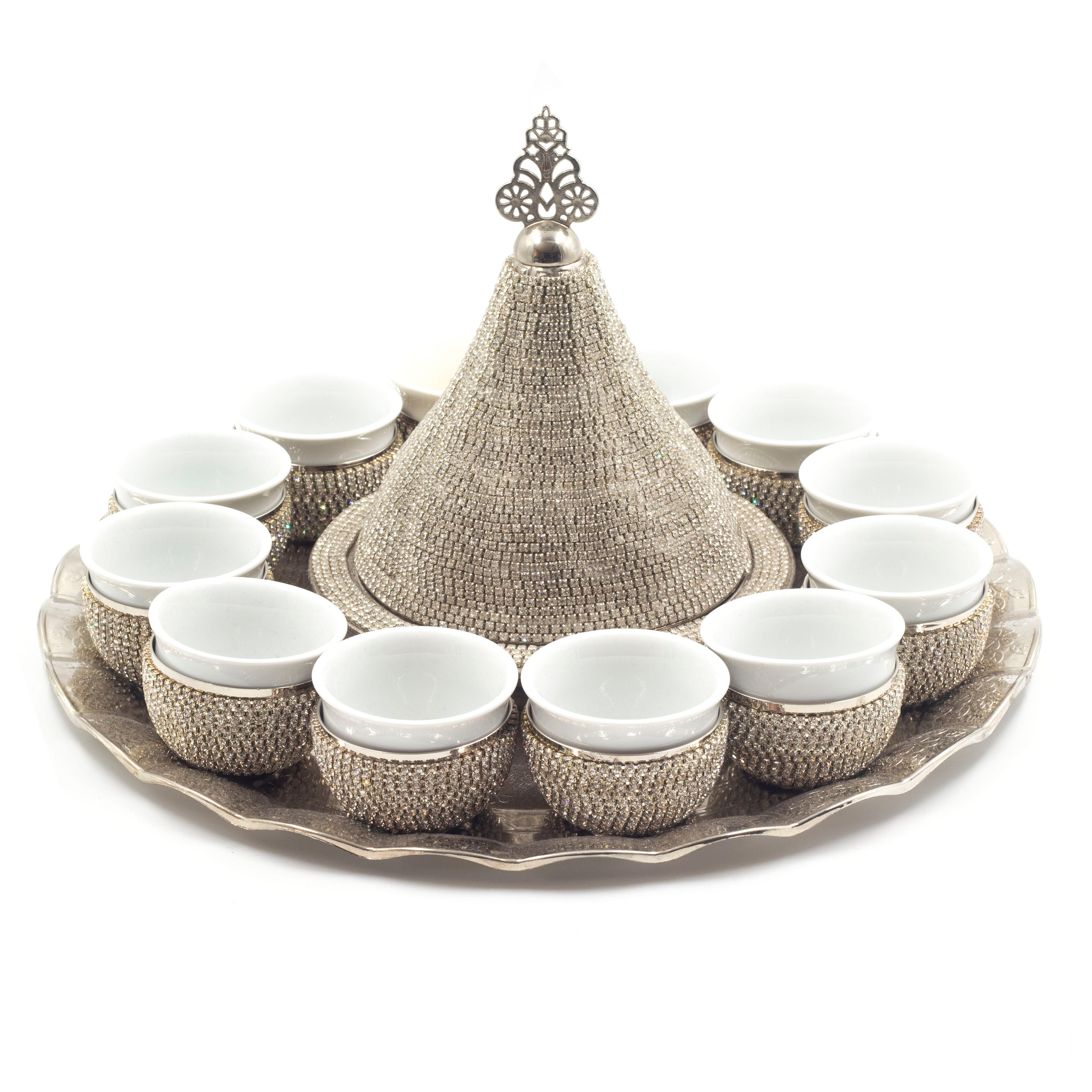 مجموعة أصيلة 6 أكواب شاي القهوة التركية مجموعة 100 النحاس خمر ميرا العربية القهوة مجموعة أكواب شاي اليدوية اسبريسو