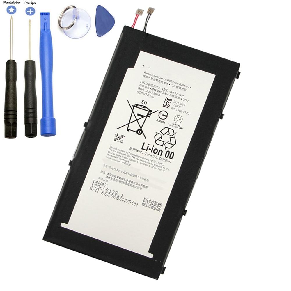 بطارية بديلة 4500 مللي أمبير في الساعة, لأجهزة Sony Xperia Tablet Z3 Compact LIS1569ERPC SGP611 SGP612 SGP621 ، بطاريات مع أدوات إصلاح