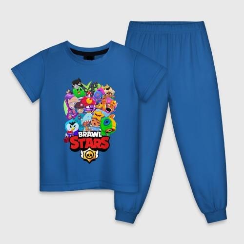Детская пижама 100% хлопок BrawlStars, удобная и модная одежда, для мальчиков и девочек