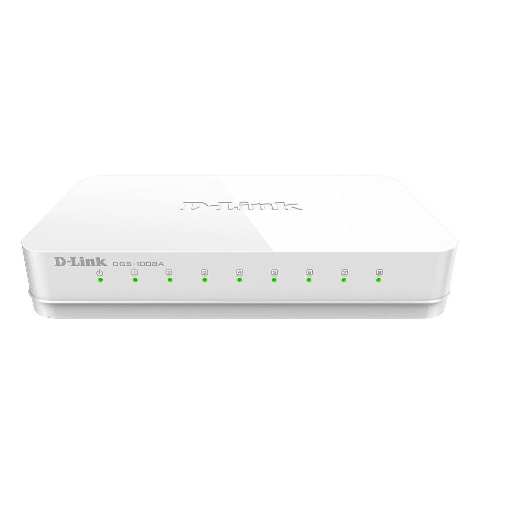 D-Link interruptor dgs-1008a (8-портов 10/100/1000BASE-T no gestionado 8x1 0/100/1000mbps verde Ethernet) (dgs-1008a)